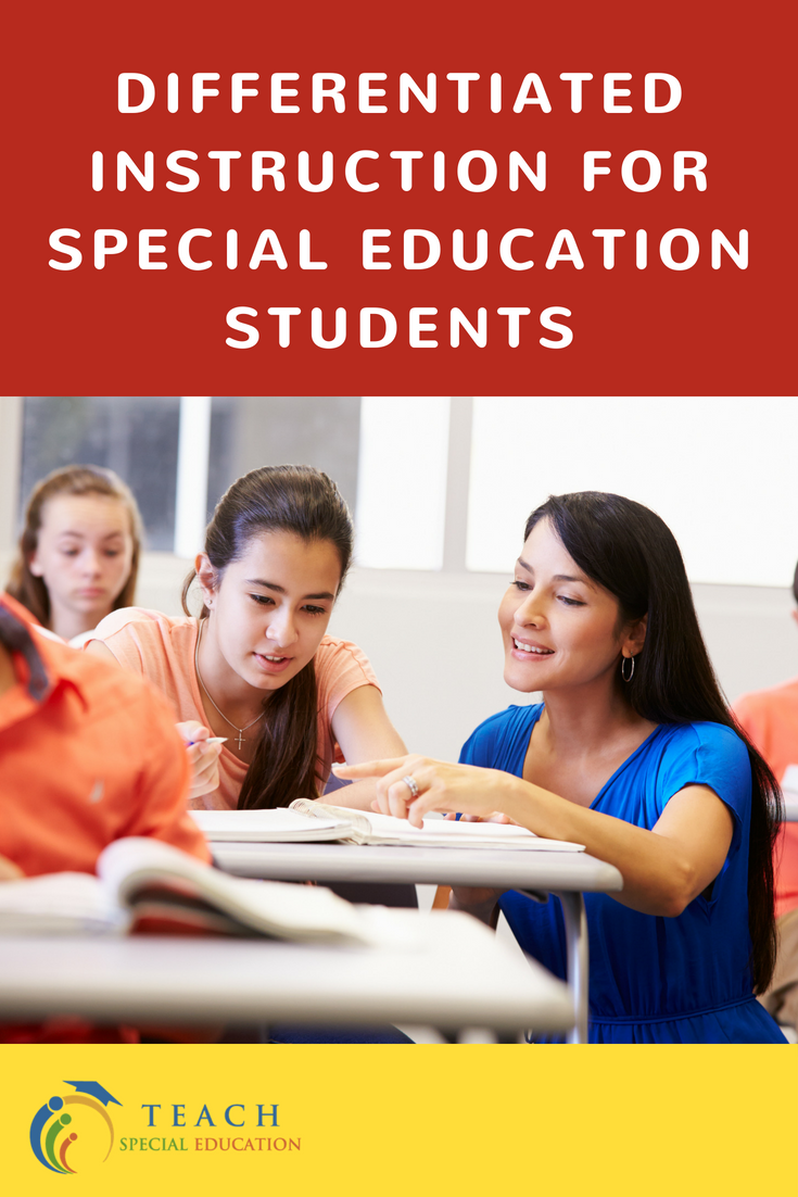 Differentiated Instruction for Special Education Students